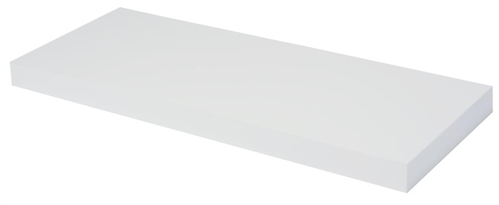 DURALINE FLOAT SHELF 60X23.5CM WHITE LAQ x 3pcs