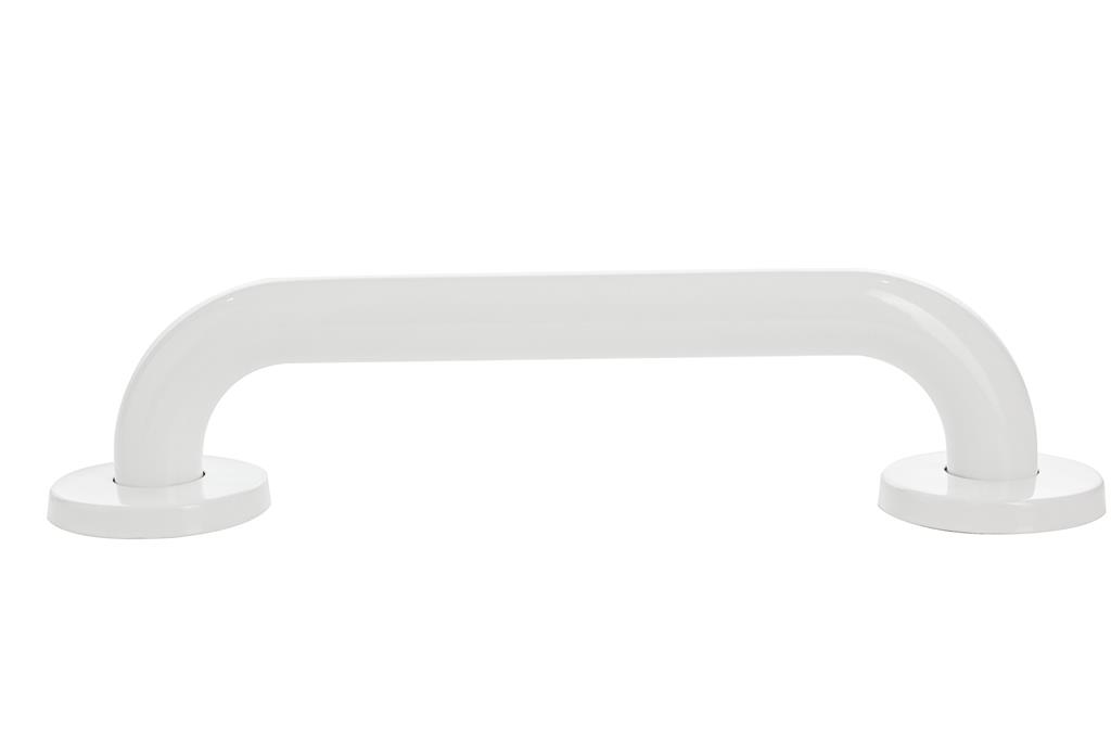LIVING PLUS WHITE STEEL GRAB BAR 32MM X 600MM