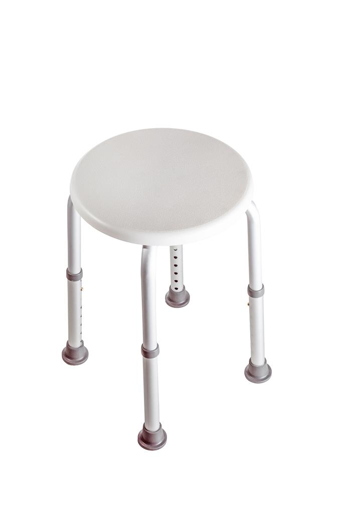LIVING PLUS ROUND BATH/SHOWER STOOL HEIGHT ADJUST