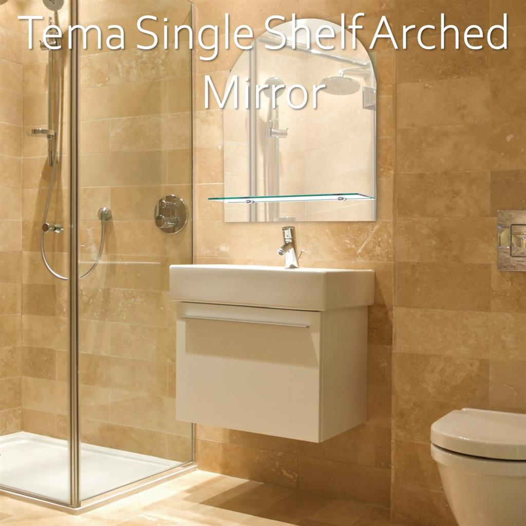Tema Bathroom Mirror & Cabinet Lifestyle Imagery
