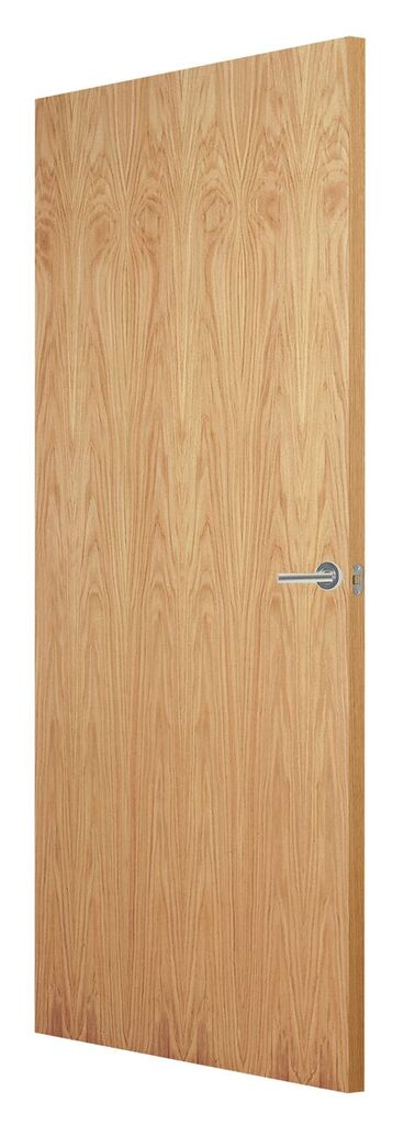 FLUSH OAK VENEER MATCH FD30 F/S DOOR 78x24 44mm