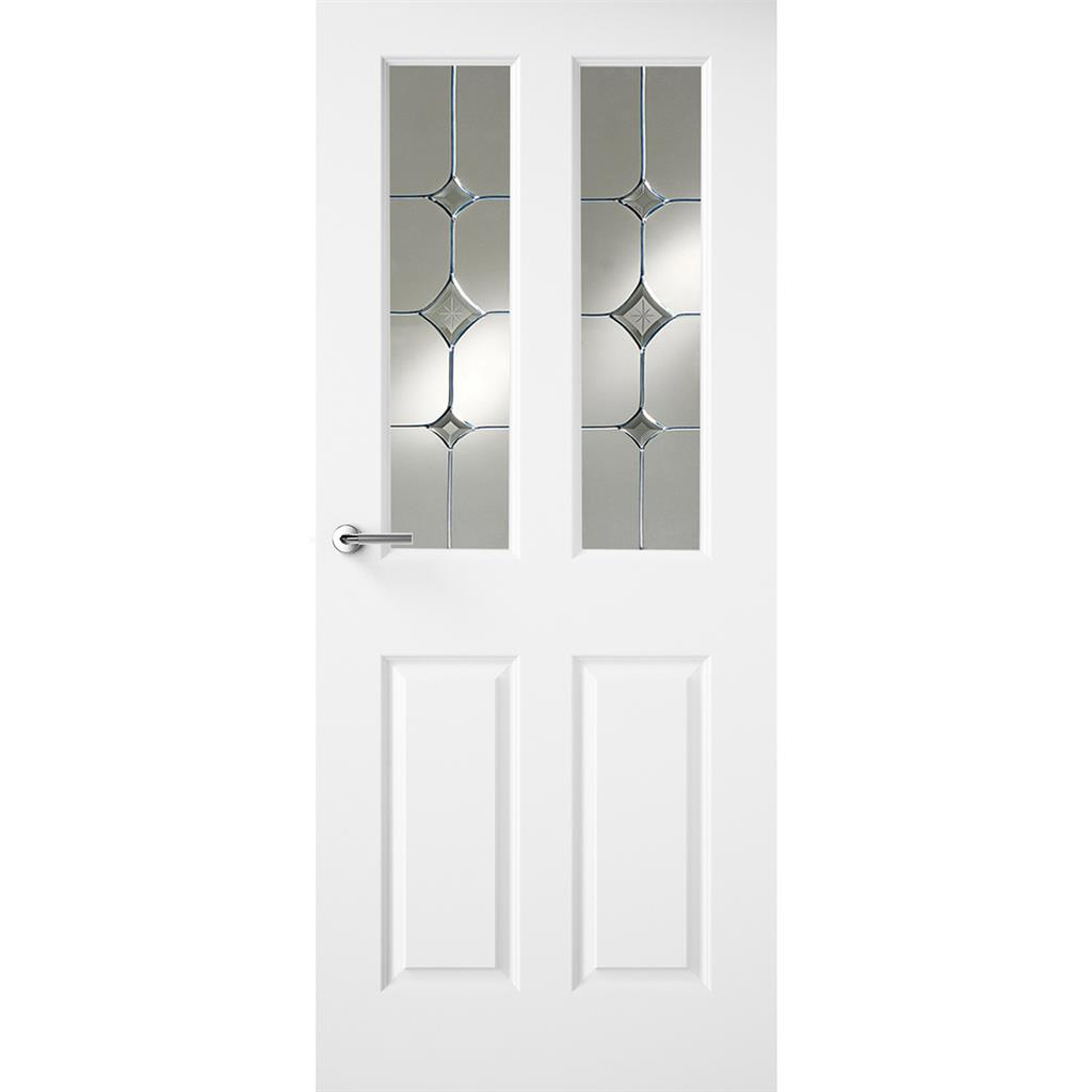 HUDSON WHITE PRIMED DOOR GATSBY GLASS 80X32