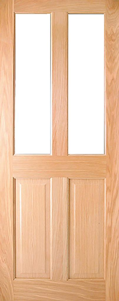 ADDISON PRE-FIN OAK 2-LITE UNGLAZED DOOR 78X30