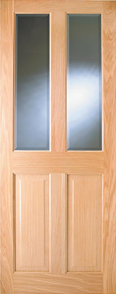 ADDISON PRE-FIN OAK BEV GLASS DOOR 80x32