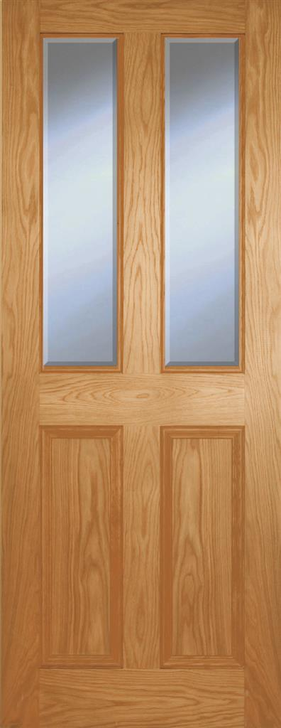 BELVILLE OAK 4P HERITAGE DOOR BEVEL GLAZED 80X32