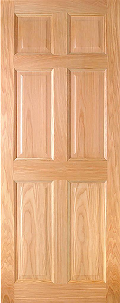 HARTFORD PRE-FIN OAK 6-PANEL ENGD DOOR 78X30