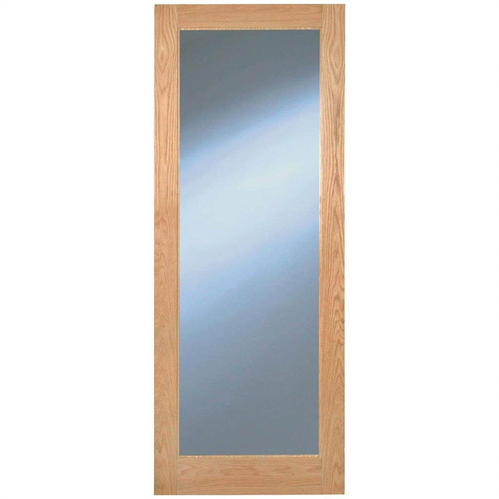 RUSHMORE CLEAR GLAZED OAK DOOR PRE-FIN 78x30