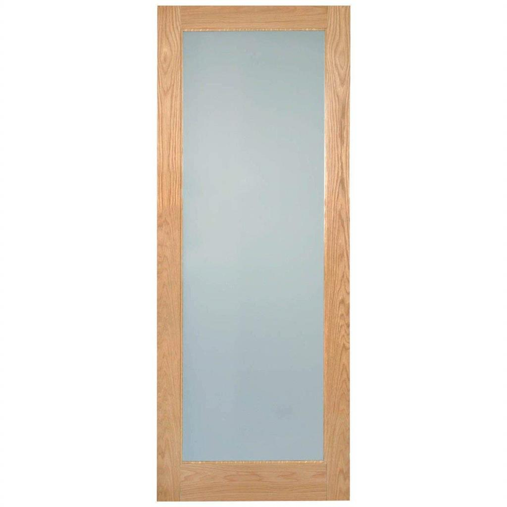 RUSHMORE LAMSAFE GLAZED OAK DOOR PRE-FIN 78x30