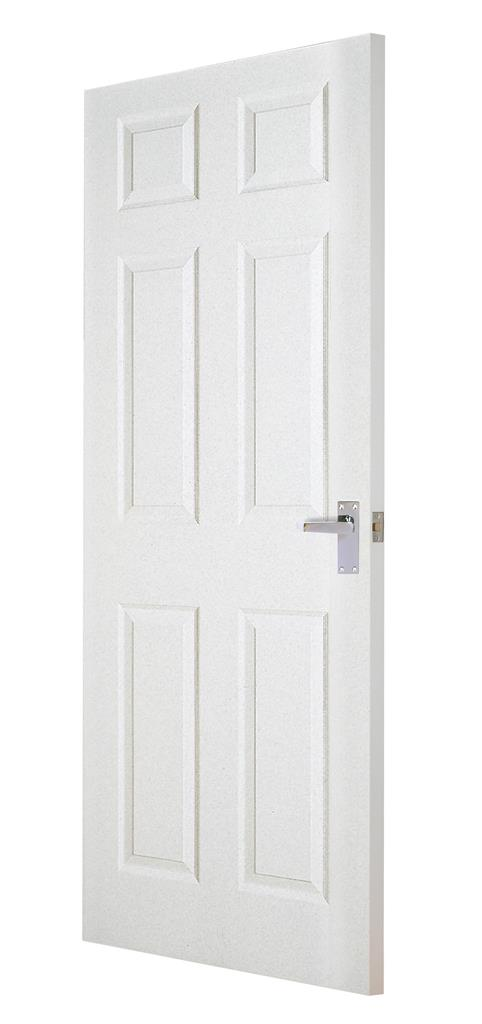 CARRICK MOULDED 6 PANEL SMOOTH DOOR 78 x 24 X 44MM