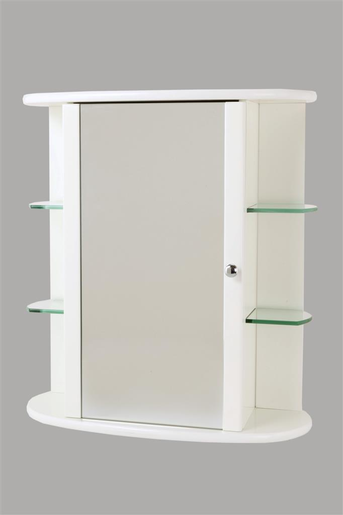 TEMA TRENT WHITE CABINET WITH GLASS SHELVES