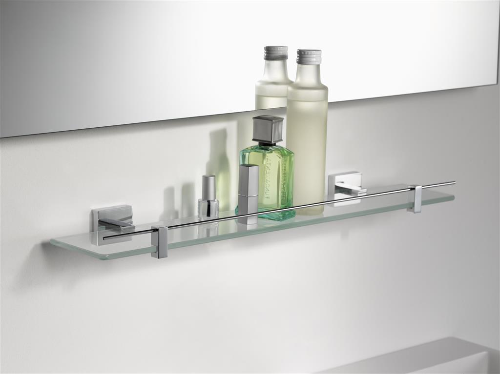 N280101 MEZZO GLASS SHELF CHROME