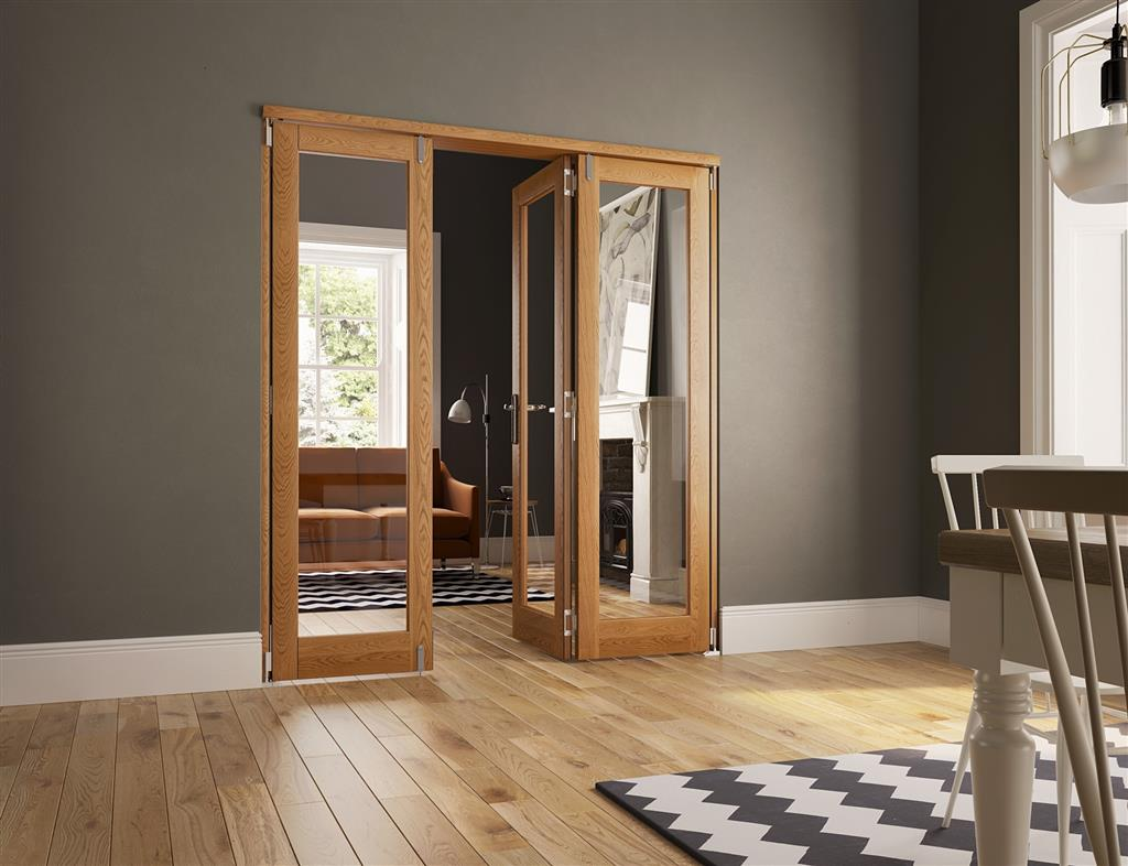 SLIDEFOLD INSPIRE 40MM OAK INTERNAL 6FT 3 DOORS