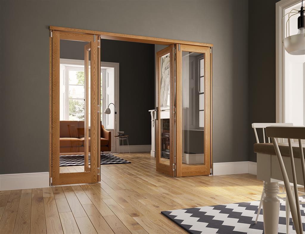 SLIDEFOLD INSPIRE 40MM OAK INTERNAL 8FT 4 DOORS