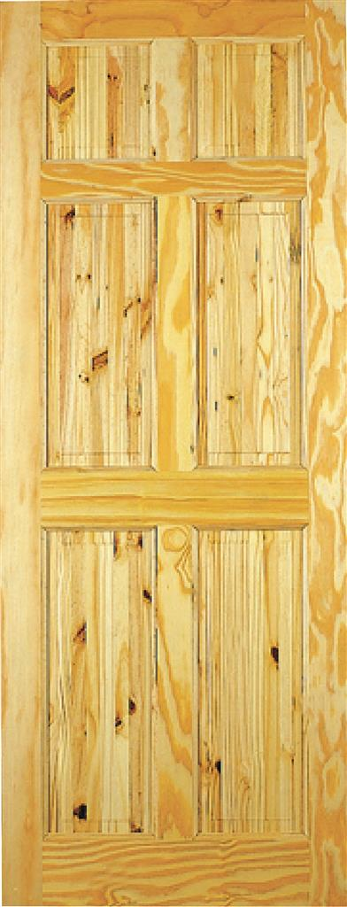 BERKLEY PINE DOOR 78x30x42mm 6 PANEL