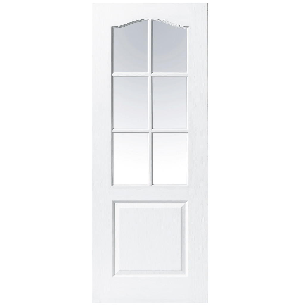 MARSEILLE PRIMED WHITE 6 LITE ARCHED DOOR 80x32x42