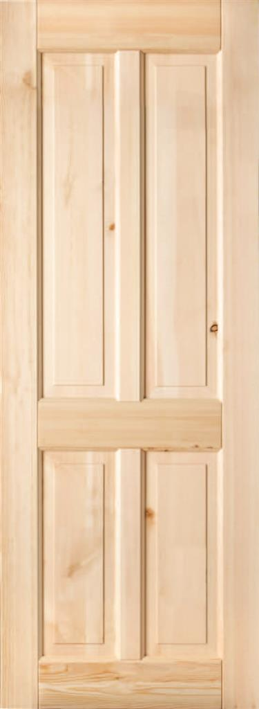 SHELTON PRE-FINISHED RED DEAL 4 PANEL DOOR 80X32
