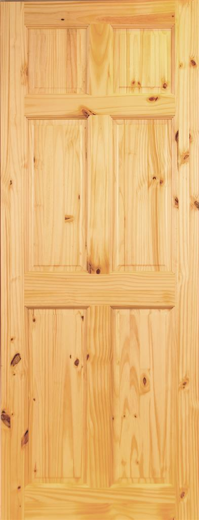 STAFFORD PREFINISHED 6P PINE DOOR 78X24X44mm