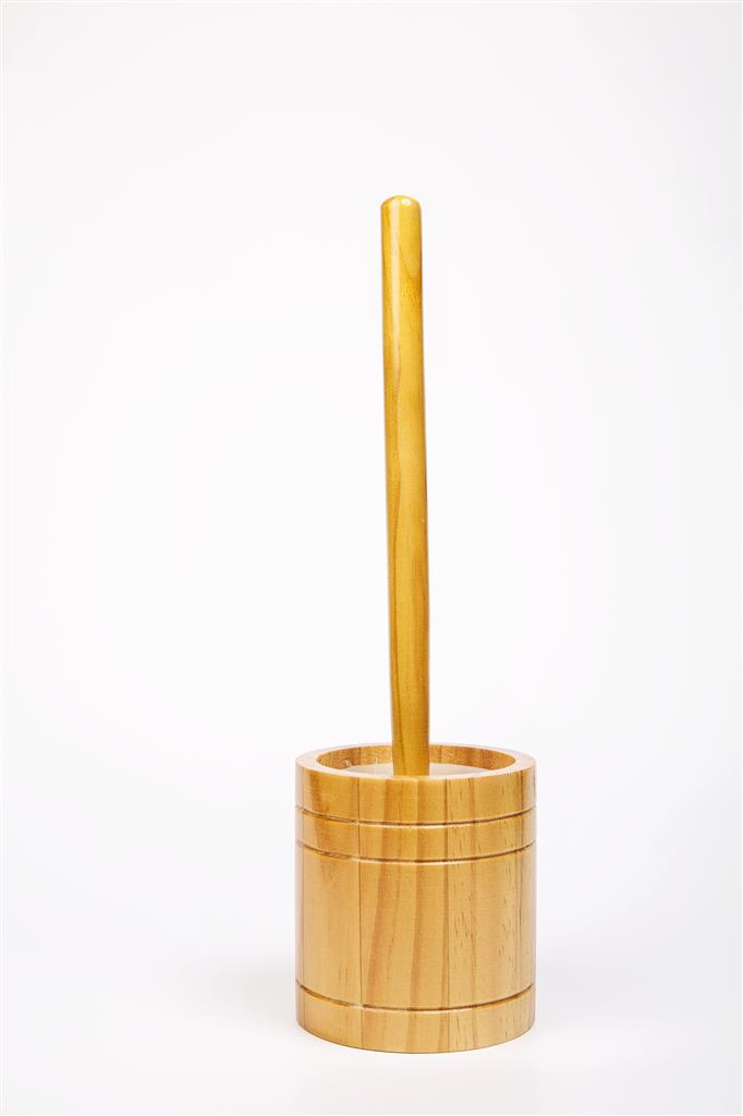 TEMA TOILET BRUSH & HOLDER ANTIQUE PINE