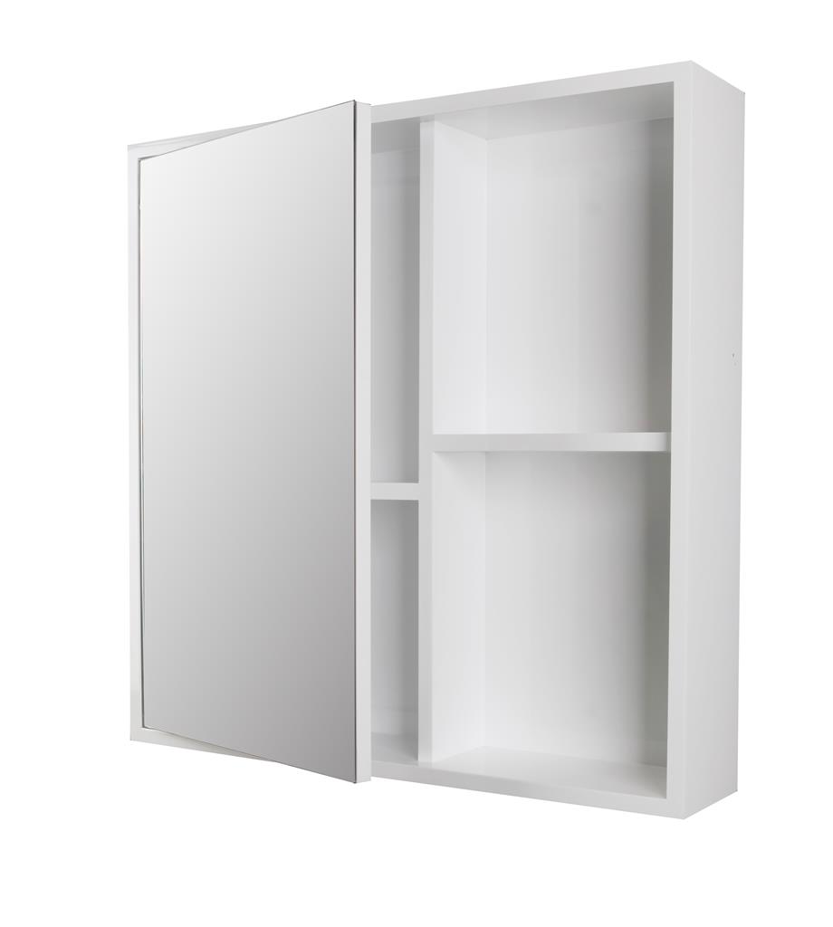 TEMA TURIN WHITE MIRROR SHELF CABINET 60X60