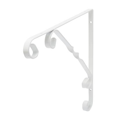 B ORG ORNAMENTAL BRACKET 25x25cm WHITE X 10 pcs