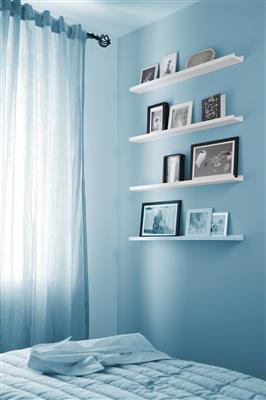 B ORGANISED PHOTO SHELF 9x80 WHITE X 6PCS