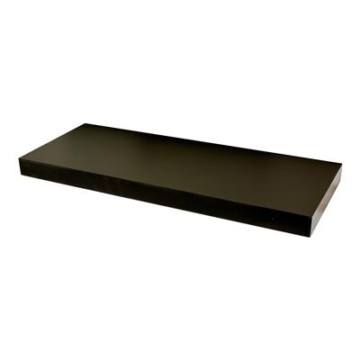 DURALINE FLOAT SHELF 60X23.5CM BLACK LAQ x 3pcs