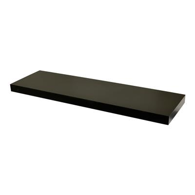DURALINE FLOAT SHELF 80X23.5CM BLACK LAQ x 3pcs