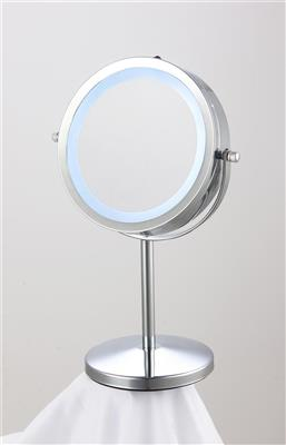 ATHOME VANITY MIRROR 17CM CHROME w LIGHTS 1X6