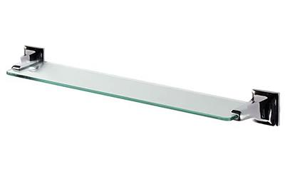 TEMA ROMA GLASS SHELF WITH CHROME FITTINGS