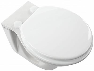 EUROSHOWERS MOULDED WHITE TOILET SEAT