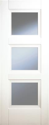 FRANKLIN WHITE PRIMED 3P CLEAR GLZ DOOR 78X30X42mm