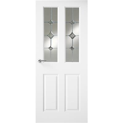 HUDSON WHITE PRIMED DOOR GATSBY GLASS 78X30