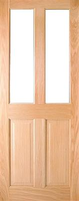 ADDISON PRE-FIN OAK 2-LITE UNGLAZED DOOR 80x34