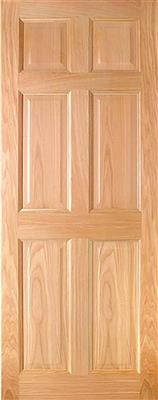 HARTFORD PRE-FIN OAK 6-PANEL ENGD DOOR 78X33