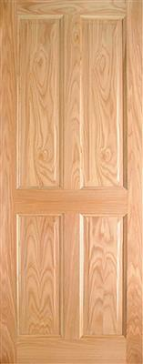 LAWRENCE PRE-FIN OAK 4-PANEL ENGD DOOR 78X33