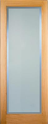 RUSHMORE OAK ETCHGLASS CLEAR BORDER P/FIN 80x34