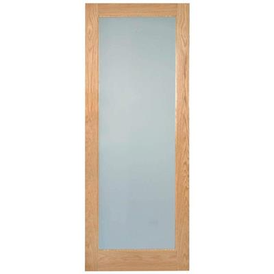 RUSHMORE LAMSAFE GLAZED OAK DOOR PRE-FIN 80X32