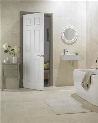 CARRICK MOULDED 6 PANEL SMOOTH DOOR 78 x 28 X 44MM