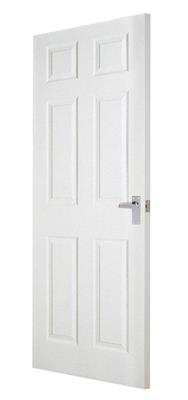 CARRICK MOULDED 6 PANEL SMOOTH DOOR 80 x 32 X 44MM