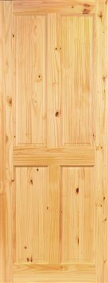 MILFORD PREFINISHED 4P PINE DOOR 78X28X44mm