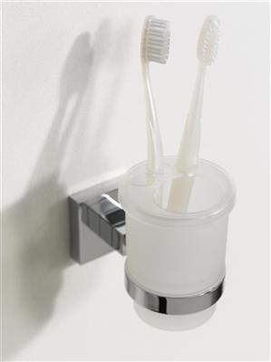 N280201 MEZZO TUMBLER & HOLDER CHROME