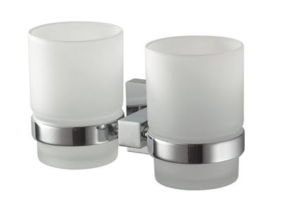 N280801 MEZZO DOUBLE TUMBLER & HOLDER CHROME