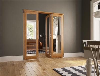 SLIDEFOLD INSPIRE 40MM OAK INTERNAL 7FT 3 DOORS