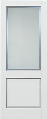 AUBURN WHITE PRIMED ETCH GLAZED CLEAR BORDER 80X32
