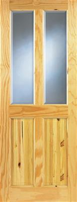 ASHFORD PINE BEVELLED GLASS DOOR 78X30X42mm