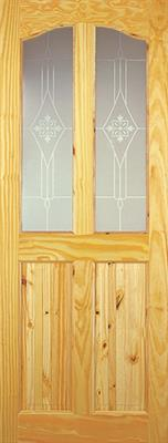 CLIFTON ACID ETCHED GLAZED DOOR 78x30