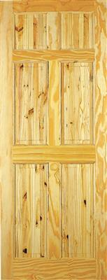 BERKLEY PINE DOOR 80X34X42MM 6 PANEL