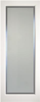KENMORE WHITE PRIMED ETCH GLASS CLEAR BORDER 78X28