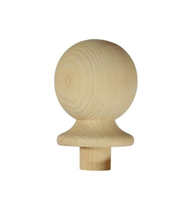 RB NEWEL CAP BALL 106 X 85 X 85 PINE