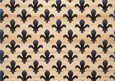 SP88 SCREENING PANEL 1810X610 PINE FLEUR DE LYS